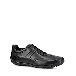 Geox - Black leather 'Edgware' trainers
