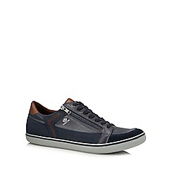 Geox - Navy leather 'Halver' trainers