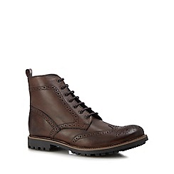 Base London - Tan leather 'Lisbon' brogue boots