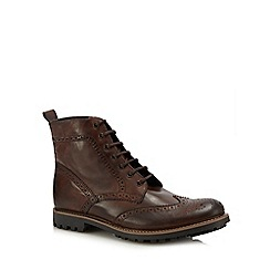 Base London - Brown leather 'Lisbon' lace up boots