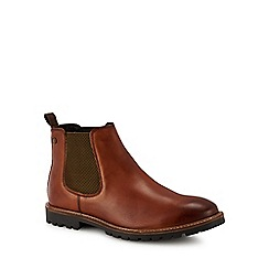 Base London - Tan leather 'Havoc' Chelsea boots