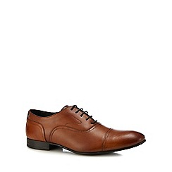 Base London - Tan leather 'Viola' Derby shoes