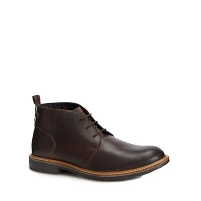 Base London - Brown leather boots 'Tully' chukka boots leather e9c042