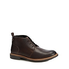 Base London - Brown leather 'Tully' chukka boots