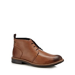 Base London - Tan leather 'Tully' chukka boots
