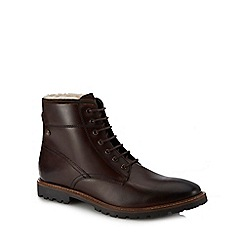 Base London - Brown leather 'Mortar' lace up boots