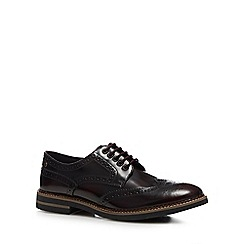 Base London - Dark Red Leather 'Rothko' Brogues