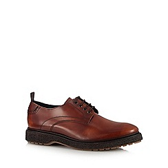 Base London - Tan leather 'Ace' Derby shoes