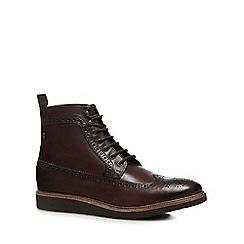 Base London - Brown Leather 'Nebula' Brogue Boots