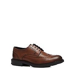 Base London - Tan Leather 'Tread' Brogues