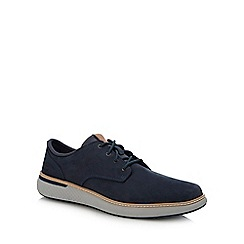 Timberland - Navy Leather 'Cross Mark' Lace Up Shoes