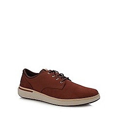 Timberland - Tan Leather 'Cross Mark' Lace Up Shoes