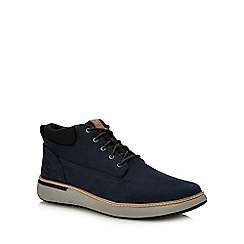 Timberland - Navy Nubuck 'Cross Mark' Chukka Boots