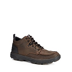 Skechers - Chocolate leather lace up boots