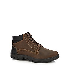 Skechers - Brown leather 'Segment Grant' walking boots