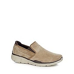 Skechers - Light brown suede 'Equalizer 3.0' slip-on trainers