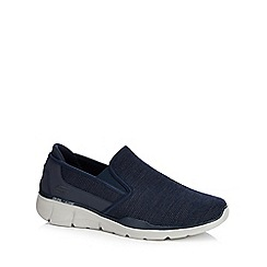 Skechers - Navy knit 'Equalizer 3.0' slip-on trainers
