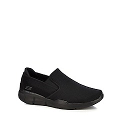 Skechers - Black knit 'Equalizer 3.0' slip-on trainers