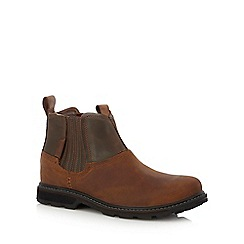 Skechers - Brown leather 'Blaine Orson' Chelsea boots