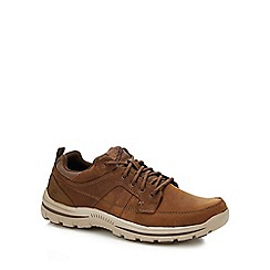 Skechers - Brown nubuck 'braver ralson' trainers