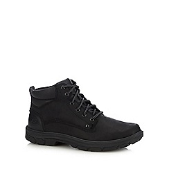 Skechers - Black leather 'Segment Grant' walking boots