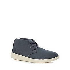 Skechers - Blue leather 'Status Roland' desert boots