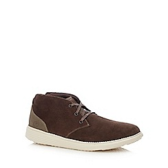 Skechers - Brown leather 'Status Roland' desert boots