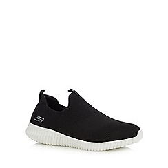 Skechers - Black 'Elite Flex' slip-on trainers