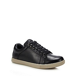 Skechers - Black leather 'volden fandom' trainers
