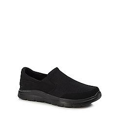 Skechers - Black 'Flex Advantage Mcallen' slip-on trainers