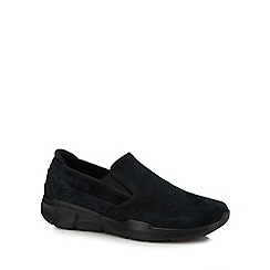 Skechers - Black suede 'Equalizer 3.0' slip-on trainers