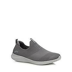 Skechers - Grey 'Elite Flex - Wasick' slip-on trainers