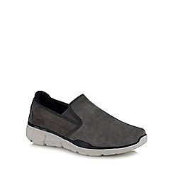 Skechers - Grey suede 'Equalizer 3.0' slip-on trainers