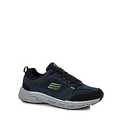 Skechers - Navy 'oak canyon' trainers