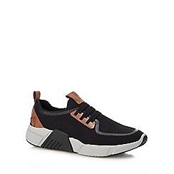 Skechers - Black knit 'Peak' slip-on trainers