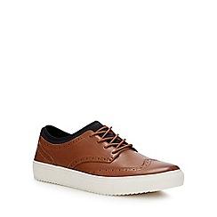 Skechers - Tan leather 'Mark Nason' brogue trainers