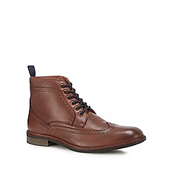Lotus Since 1759 - Brown leather 'Aldridge' brogue boots