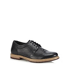 Lotus Since 1759 - Black leather 'Heslington' brogues
