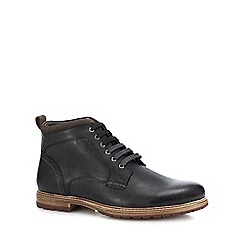 Lotus Since 1759 - Black leather 'Teddington' chukka boots