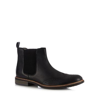 Lotus Since 1759 Black leather 'Basildon' Chelsea boots  5493dacabba9
