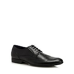Lotus Since 1759 - Black leather 'Bannerman' derby shoes