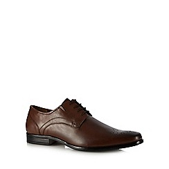 Lotus Since 1759 - Brown leather 'Birkdale' Derby shoes