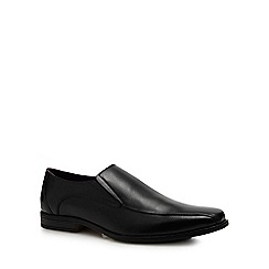Lotus Since 1759 - Black leather 'Stockton' slip-on shoes