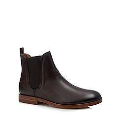 H By Hudson - Dark brown leather 'Adlington' Chelsea boots
