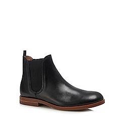 H By Hudson - Black leather 'Adlington' Chelsea boots