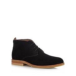 H By Hudson - Black Suede 'Bedlington' Desert Boots