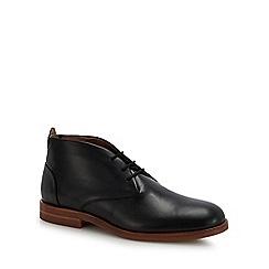 H By Hudson - Black leather 'Bedlington' desert boots