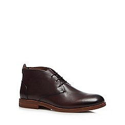 H By Hudson - Brown Leather 'Bedlington' Desert Boots