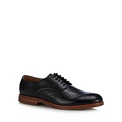 H By Hudson - Black Leather 'Balleter' Oxford Shoes