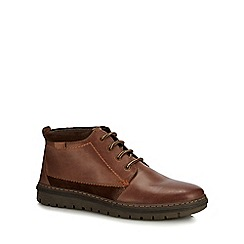 Hush Puppies - Tan leather 'Boston' chukka Boots